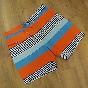 NWOT PATAGONIA Stripe Board Shorts Swimming Trunks